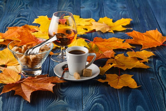 káva s brandy