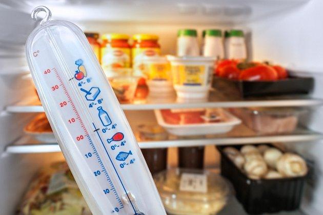 Do lednice si můžeme pořídit i speciální teploměr.