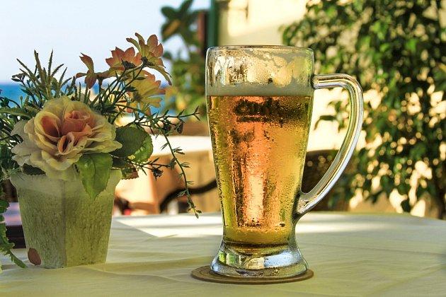 zvětralé pivo zahrada