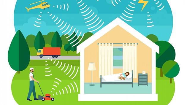 Na hluk zvenčí platí kvalitně osazená okna s vysokou zvukovou neprůzvučností.