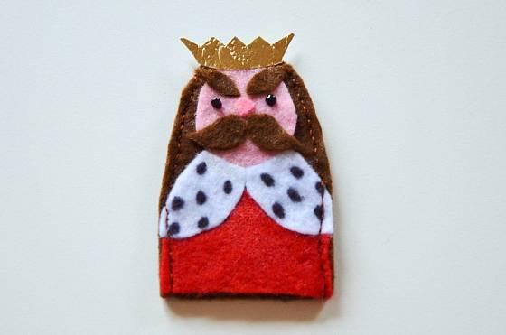 prstový maňásek - král