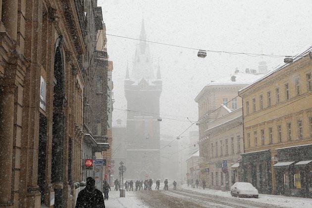 Zima v Praze přivítala betlémy v Jindřišské věži.
