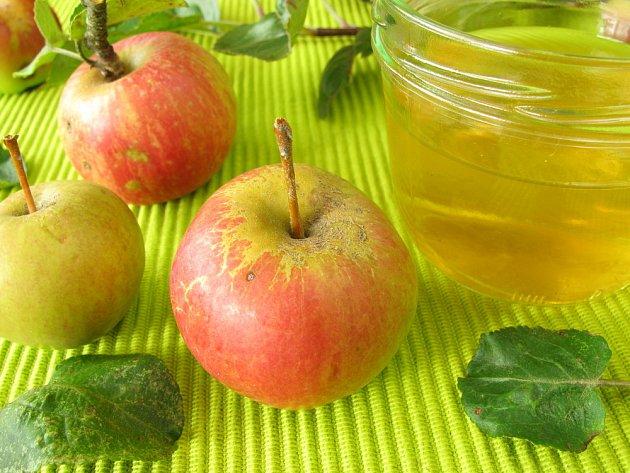 Jablečný rosol má jemnou chuť a příjemný vzhled