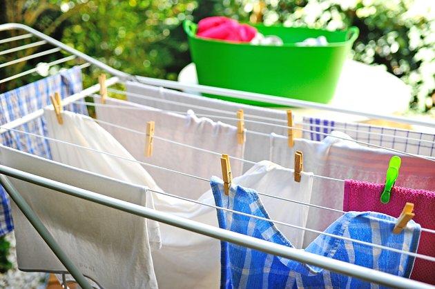 Prádlo na sušáku