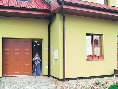 Garážová vrata - částečné otevírání