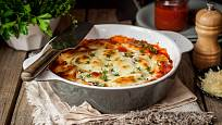 Lasagne budou slušet i kulaté formě.