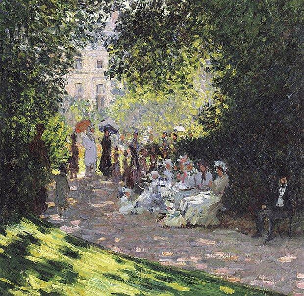 Takto viděl zahradu v Monceau Claude Monet
