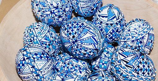 modré kraslice