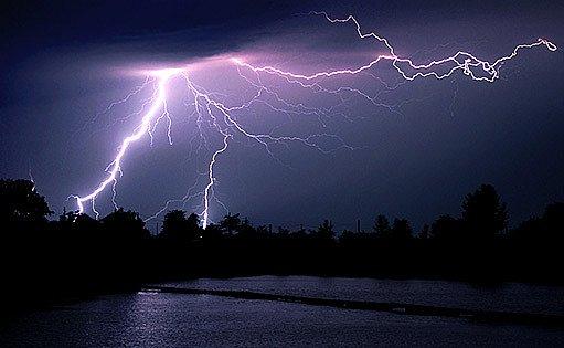 blesky, bouřka