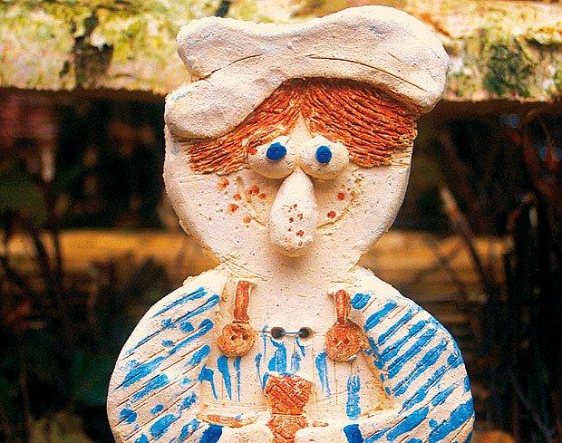 Na figurkách betlému se každý mohl umělecky vyřadit podle sebe.