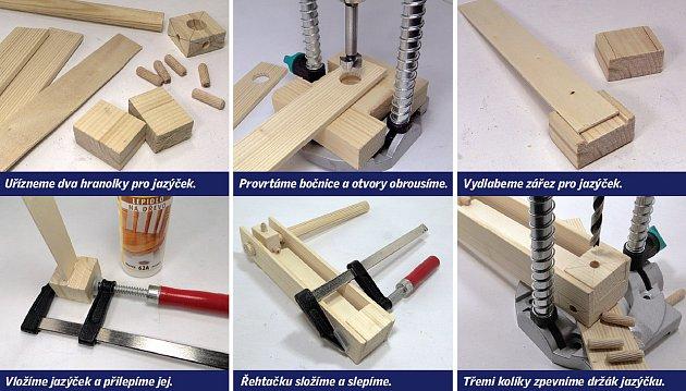 postup výroby řehtačky