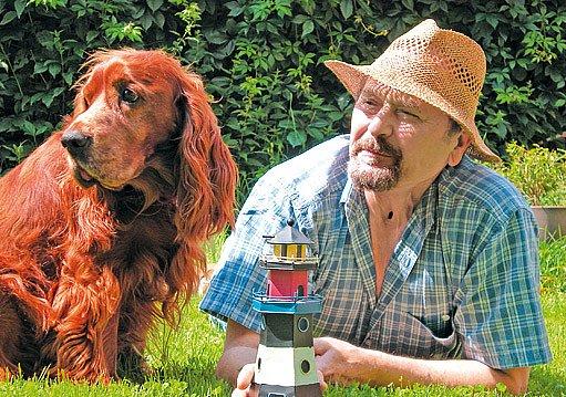 Jiří Žáček a jeho psí kamarád