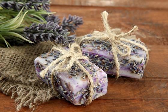 Levandulové mýdlo potěší