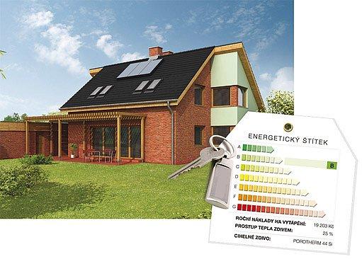 předávací protokol obsahuje i energetickou třídu domu