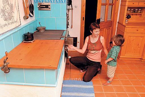 Paní Jiřina s mladším synkem
