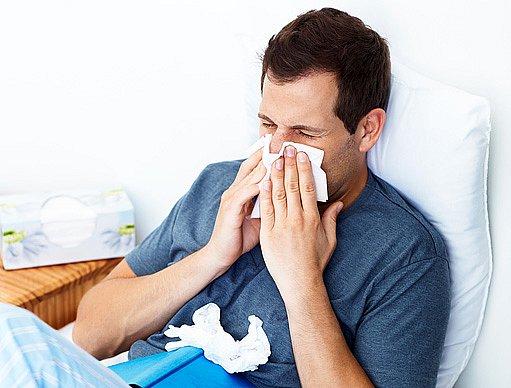 chřipka dokáže člověka potrápit
