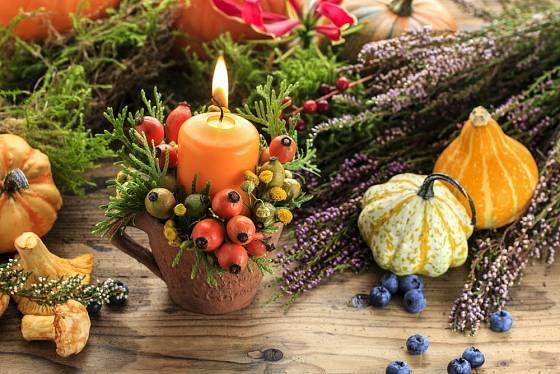 Podzimní dekorace na stůl