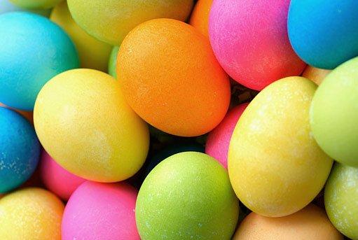 velikonoční barvená vejce