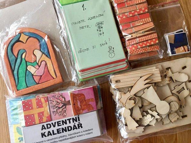 Základ adventního kalendáře připravený pro opakované použití.