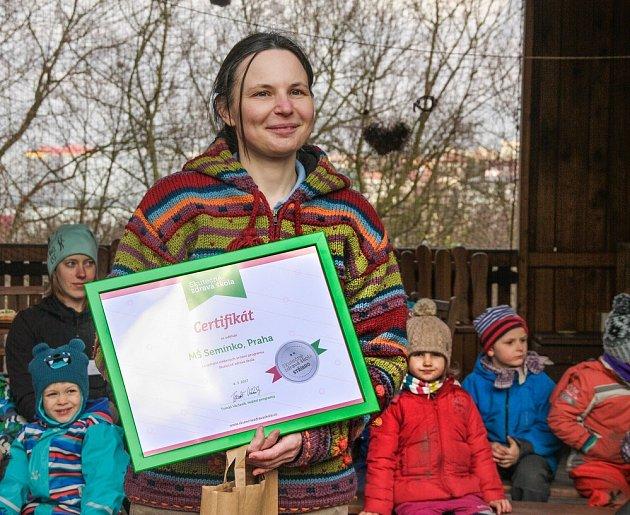 MŠ Semínko jako první splnila stříbrná kritéria programu Skutečně zdravá škola.