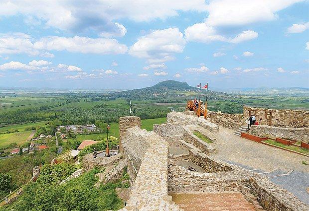 zřícenina hradu v Hévízi
