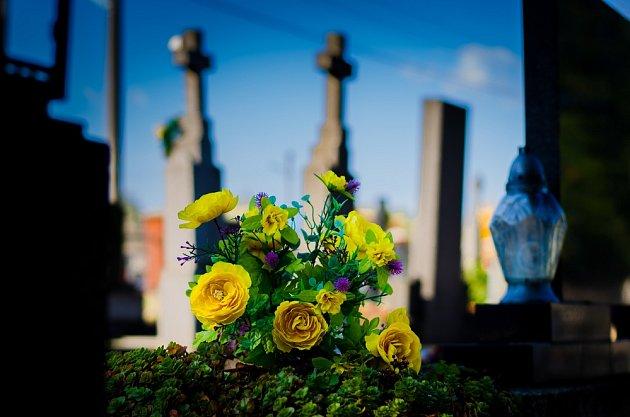 Některé letní květiny dokáží hrob krásně oživit - jak řezané, o něž se musíme starat, tak vysazené - sezónně .