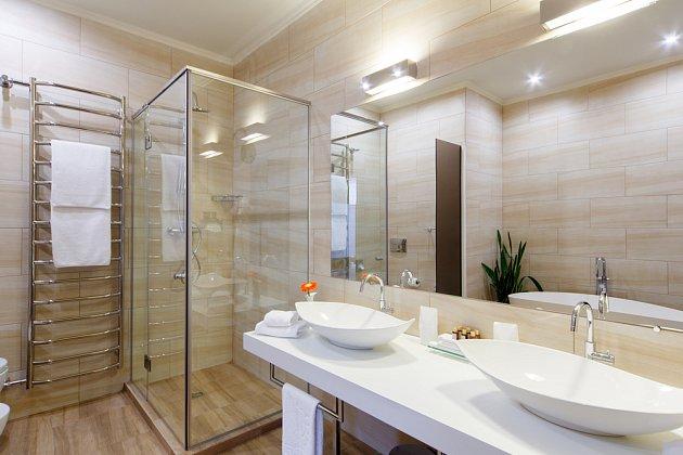 Žebřík, klasika do moderní koupelny.