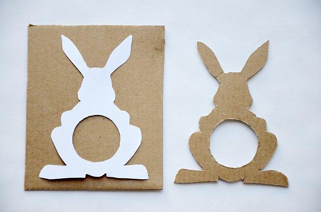 Veselé velikonoční zajíčky vyrobíme ze zbytků kartonu