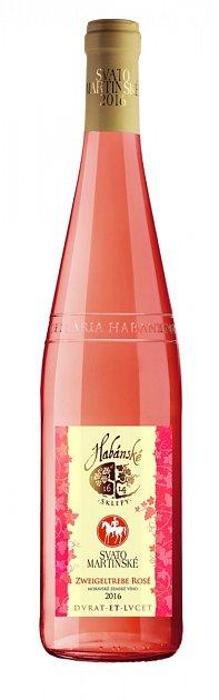 Svatomartinské Habánské sklepy Zweigeltrebe rosé