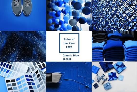 Barvou roku je odstín Clasic blue