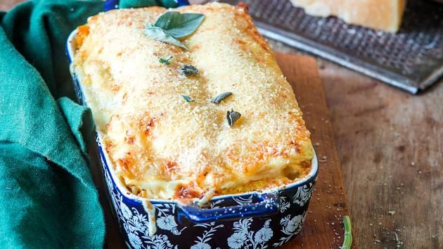 Lasagne bez masa zvládnete díky dýni.