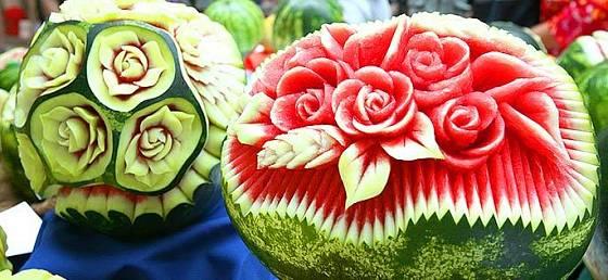 carving - květinové motivy