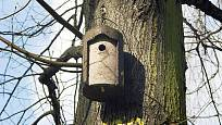 Dřevocementový ptačí budka