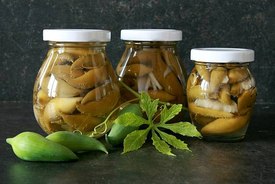 Plody ačokči lze nakládat stejně jako okurky
