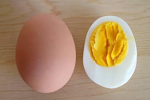 správně uvařené vejce