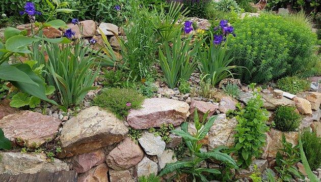 Suché zídky vytvoří ve svahu půvabné terasy