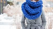 Perfektní šála na zimu