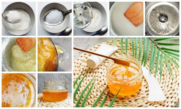 Domácí příprava cukrové pasty.