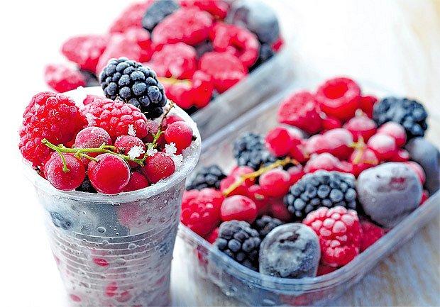mražené lesní plody