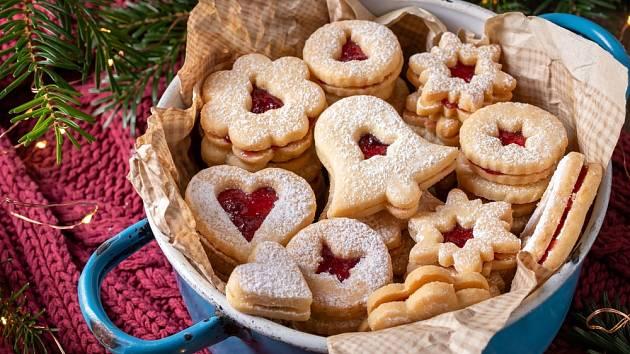 Linecké cukroví představuje vánoční klasiku.
