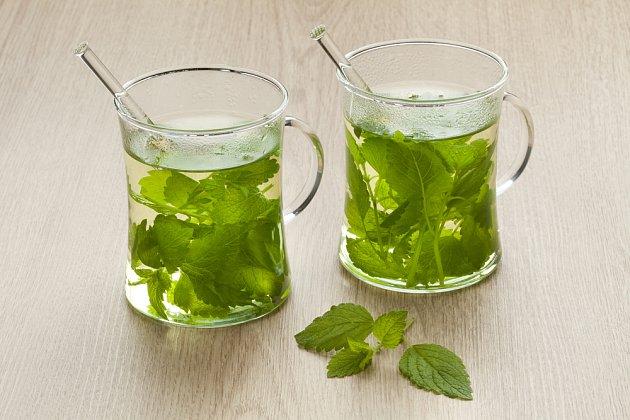 Meduňkový čaj.