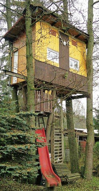 domek ve větvích