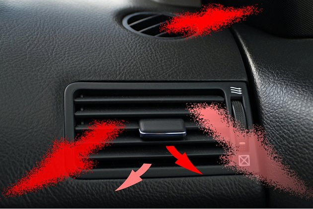 Také v autě bychom měli usměrnit proudění chladného vzduchu.
