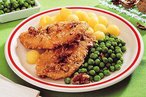 kuřecí řízky s ořechovou směsí