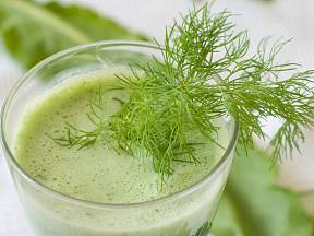 Zdravá zeleninová šťáva