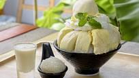 Dužina durianu sama chutná jako dezert, proto je i oblíbeným základem lahodných pohárů