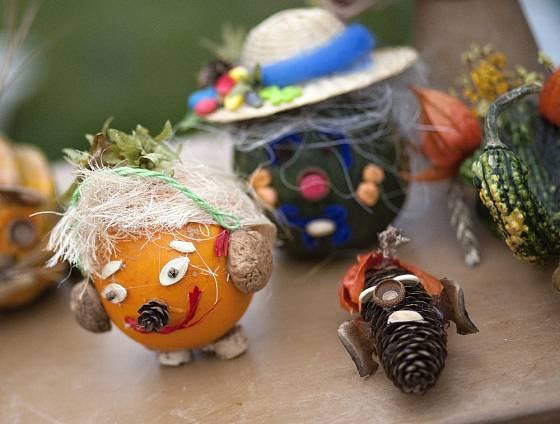 Dýňové hrátky - tvoření z dýní a dalších přírodnin.