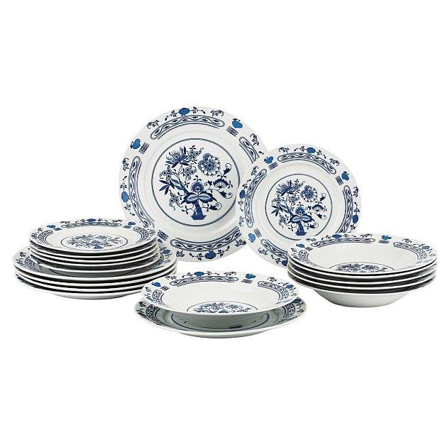 Osmnácti dílná sada talířů Banquet Onion
