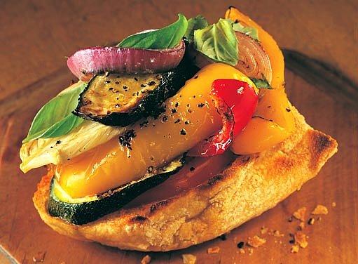 bageta s grilovanou zeleninou