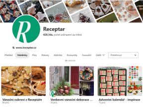 Receptář na Pinterestu